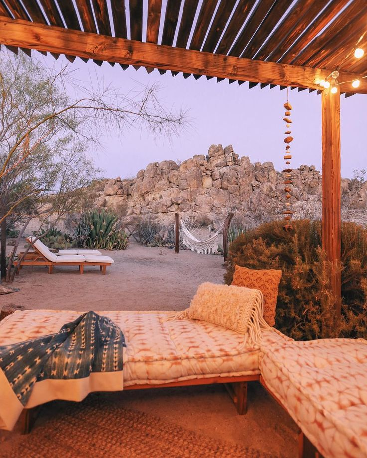 Dreamy outdoor spaces at The Joshua Tree House.