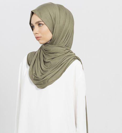 olive maxi jersey hijab