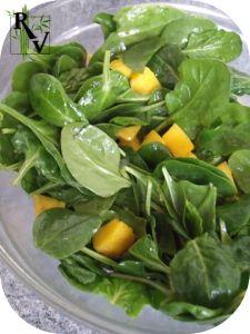 Salade Mangue & Pousses d'Épinards