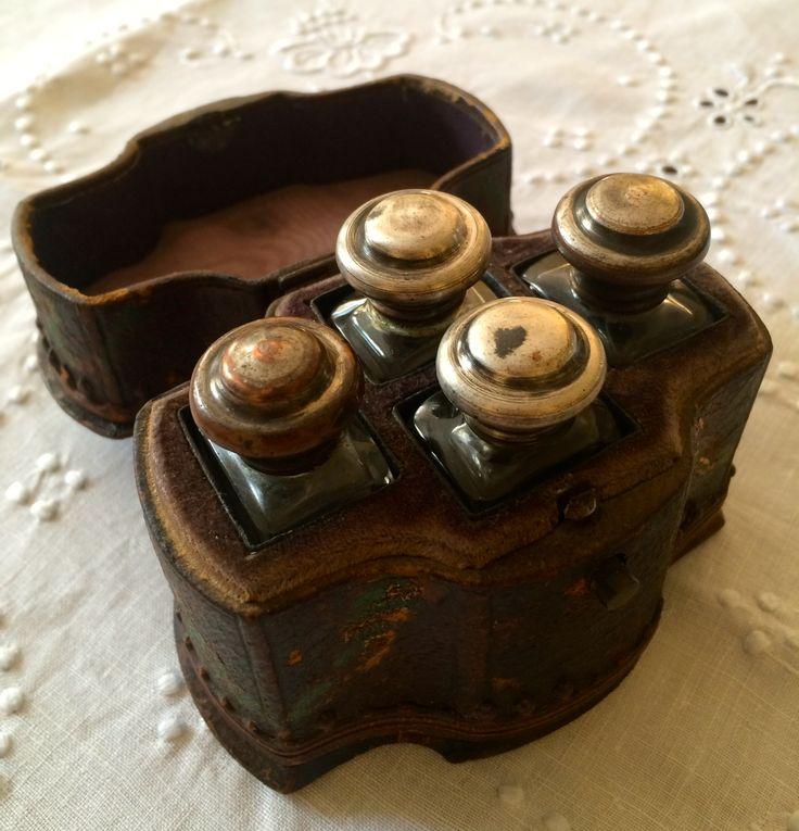 Travel box on essential oils, c . 1860 - 1870, Karlovy Vary ,West Bohemia