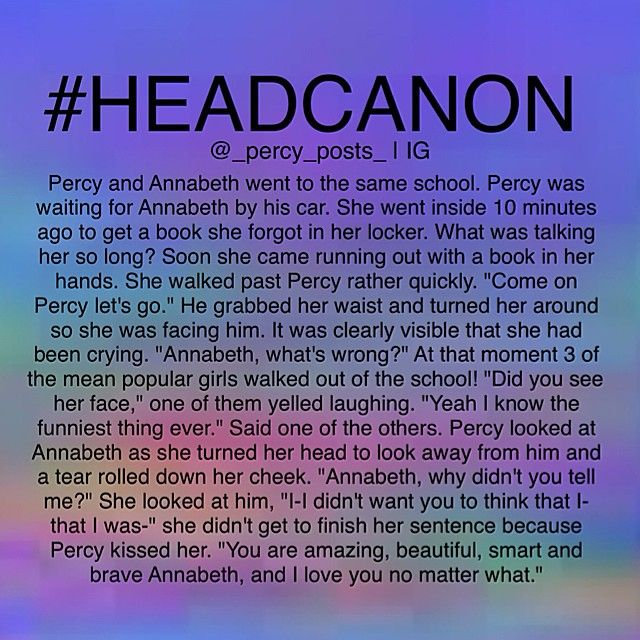 "Awwwww, but I was hoping percy would have drenched those girls <<<Percy pulled away from Annabeth with an evil grin on his face. ""Percy? What're you-"" before she could finish her sentence the sprinkler went crazy completely soaking the three girls. ""And no one makes fun of you and gets away with it."""