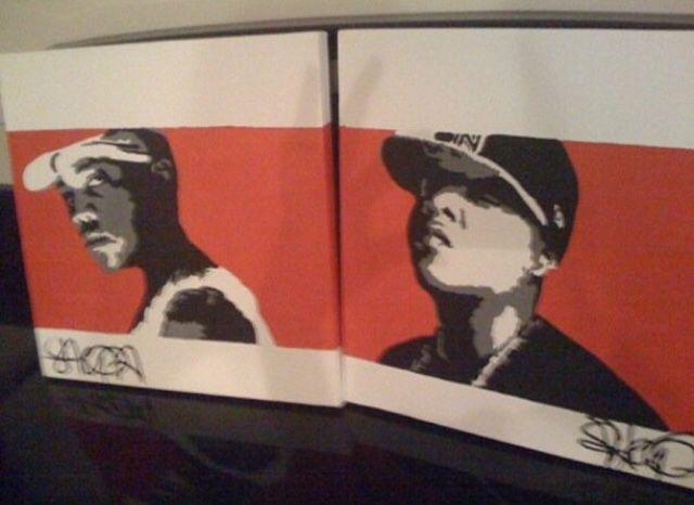 Radio Station 102 Jamz. Orlando. Mural. Rap and R & B Legends. Tupac.WuTang Clan. Biggie. Snoop Dogg. Method Man. Lauren Hill. Jada Kiss
