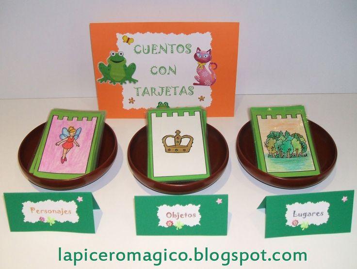 LAPICERO MÁGICO: ESCRITURA CREATIVA. Cuentos con tarjetas