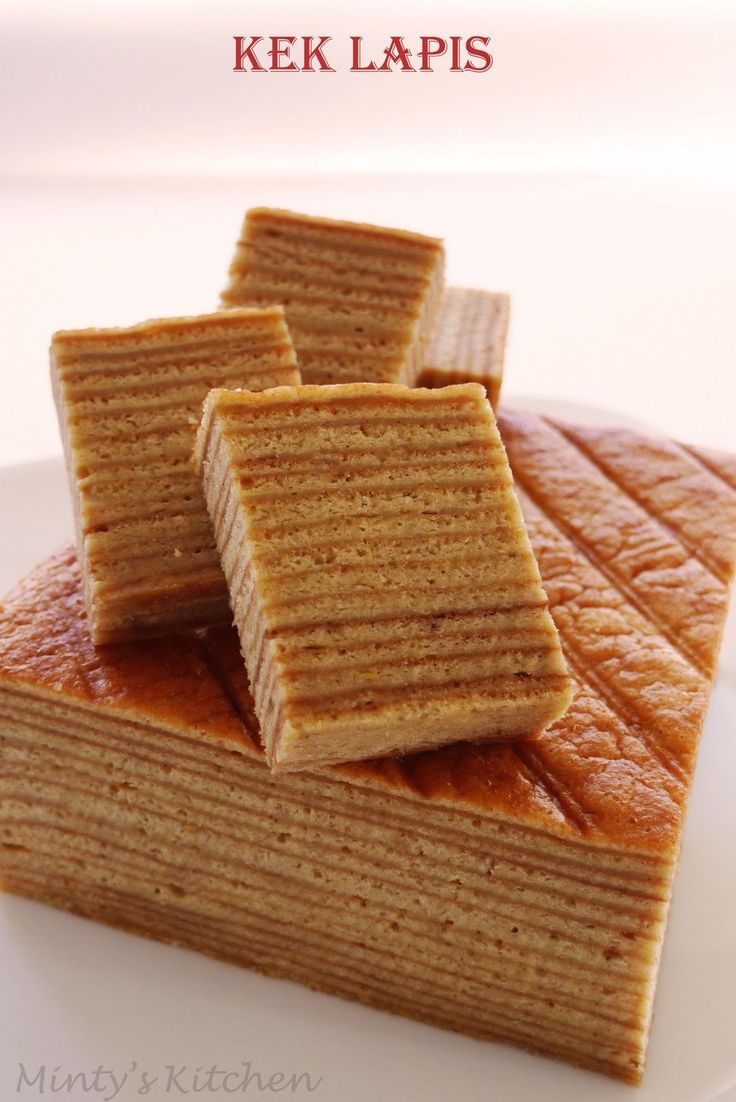 A Dutch-Indonesian cake which is also known as Lapis Legit (Indonesian) or Spekkoek (Dutch) or A Thousand Layer Cake (English) ...