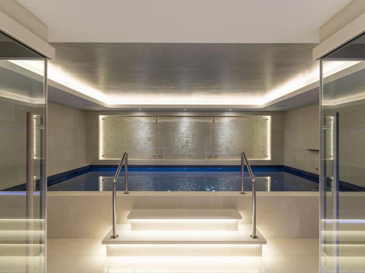 Lower basement swimming pool in Kensington mansion