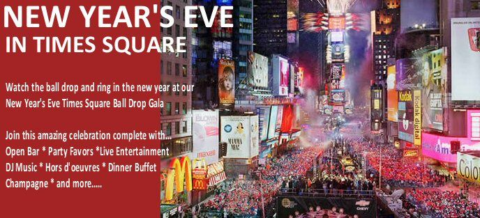New Year's Eve Times Square Ball Drop Vacation - New York City Vacations Inc., New York City Hotels, Sightseeing, Broadway Shows, Tours, Attractions, Expert NYC Travel Information Guide - What to do and see in New York City