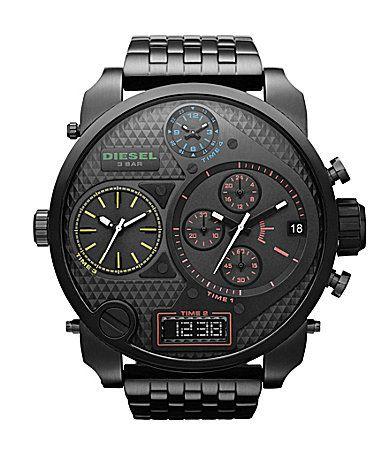 Diesel Black Multifunction #watches