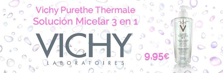 9,95€ PVP Oferta - Solución micelar #Purethe de #Vichy http://www.farmachueca.com/vichy-purete-thermale-solucion-micelar-400-ml.html
