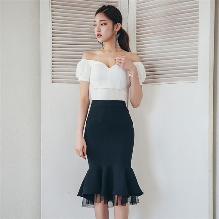 Cheap piece set women, Buy Quality skirt set directly from China set women Suppliers: 2 Piece Set Women Suit 2017 Summer Slash neck  white Blouse Shirts Tops and Bandage Mermaid Skirt Crop Top and Skirt Set
