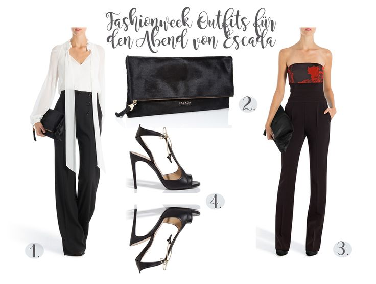 #escada #collage #wishlist #productscollage #event #fashion #fashionweek #sandals #ootd #jumpsuit #clutch #Sailorpants @escada http://fashiontipp.com