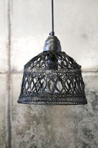 Madeleine Charcoal Wire Ceiling Light