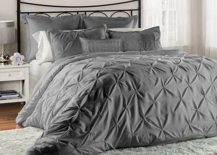 8 Piece Lucilla Black Comforter Set