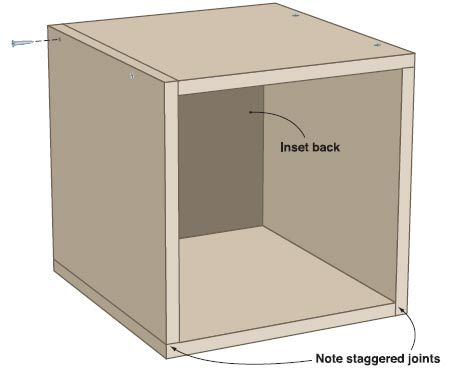 Make your own wood storage cube from wood. Very sturdy and classy.