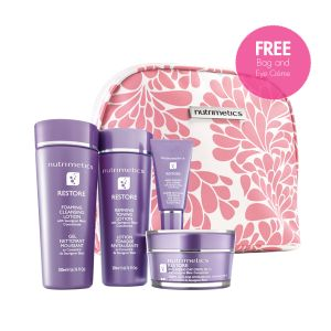 During the month of March purchase a Skincare set from the Nutrimetics Restore range, Hydrafinity set, Nutrimetics (White) range & Comfort set and receive FREE an Eye Creme & Skincare Bag valued at over $92, plus a FREE Nutri-Rich Duo Gift set valued at $51.  Wow what great value.    ORDER NOW at https://www.nutrimetics.com.au/cyndi