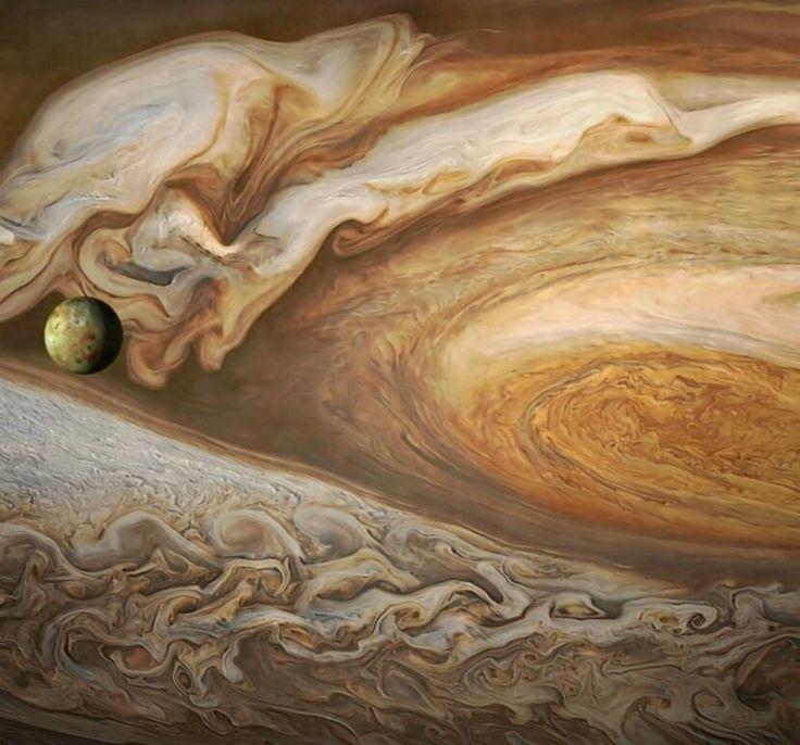 Jupiter and Io. NASA Voyager Mission.