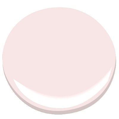 Benjamin Moore Whispy Pink. If I weren't lazy, I'd paint the green wall in my room this shade.