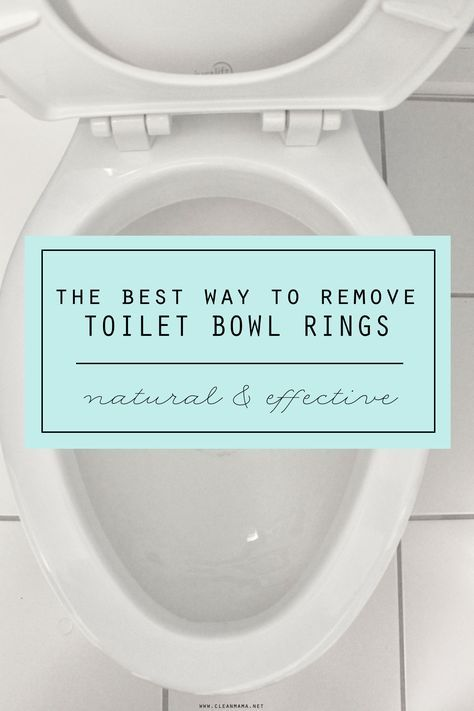 Get rid of that annoying toilet bowl ring with this unexpected and ridiculously simple tip.