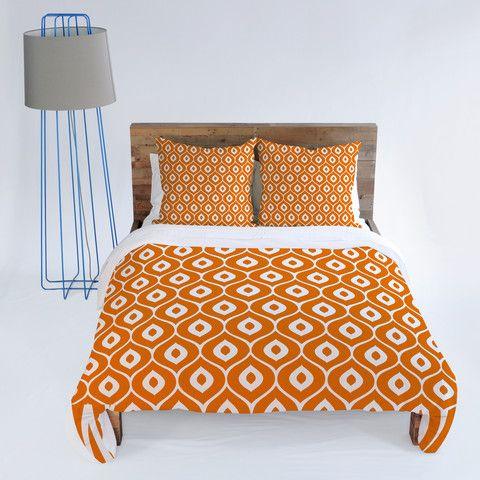 Aimee St Hill Leela Orange Duvet Cover
