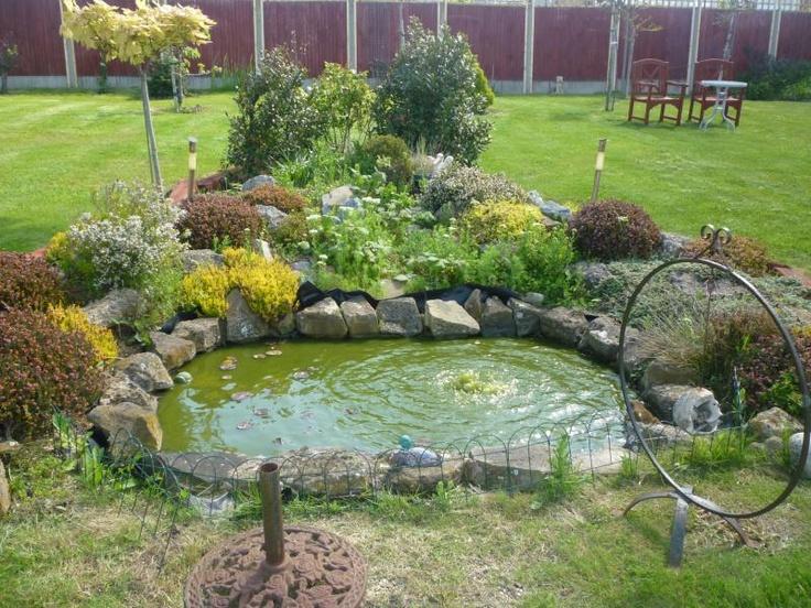 Duck pond at a house in herne bay kent uk duck pond for Design of farm pond ppt