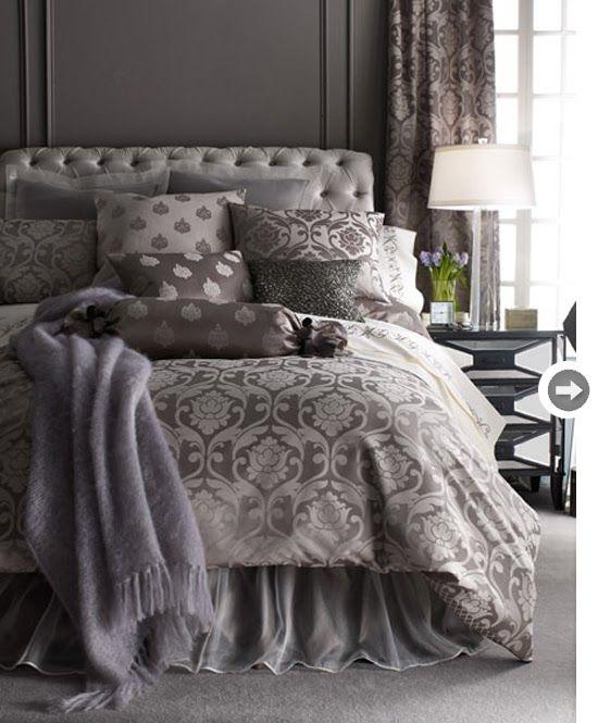 yatak odasında gri