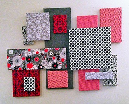 Raspberry Patch DIY Fabric Wall Art + link to how to