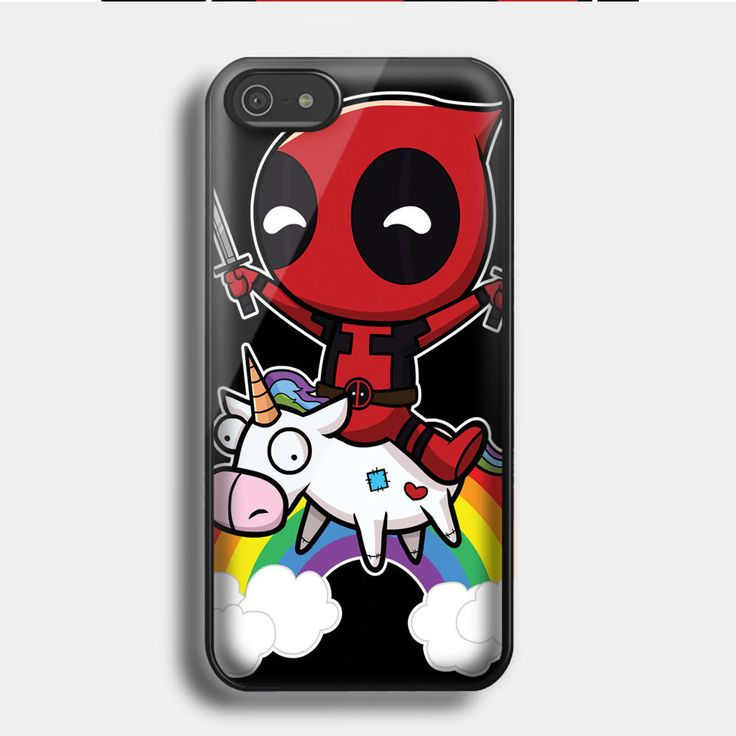 Disney deadpool riding a unicorn for  iPhone & Samsung Galaxy Case