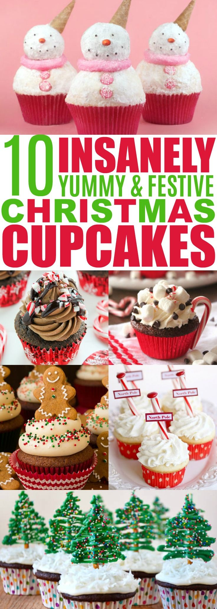 Christmas Cupcake Recipes, Holiday Cupcake Ideas, Decorating Christmas Cupcakes