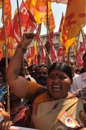 General strike in India, 2/28/12.