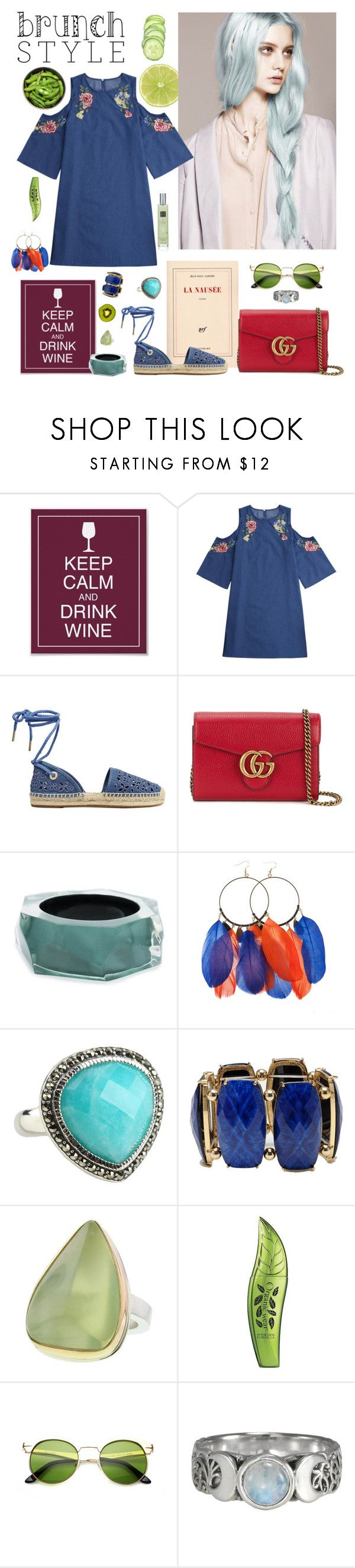 """brunchstyle"" by nieboskakara ❤ liked on Polyvore featuring Martha Stewart, MICHAEL Michael Kors, Gucci, Alexis Bittar, Friis & Company, Judith Jack, Amrita Singh, Jamie Joseph, Physicians Formula and brunchgoals"