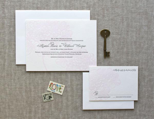 BLEECKER invitation suite, www.weheartpaper.com - We Heart Paper, Letterpress, Wedding Invitations, Stationery