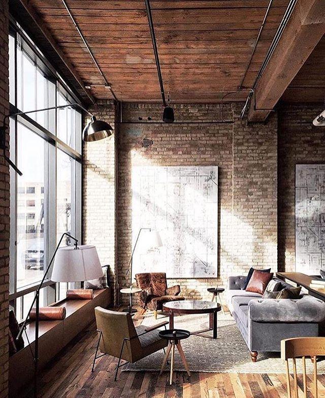 Industrial And Loft Living: 25+ Best Ideas About Loft Office On Pinterest