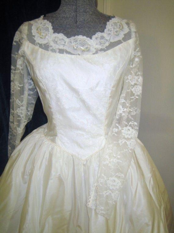 50er jahre spitze hochzeit kleid vintage von