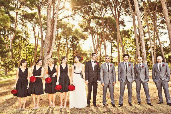 brides of adelaide magazine - zoe and anthony - shona henderson photography - red and black wedding - white, red and black - elegant - uniqu...