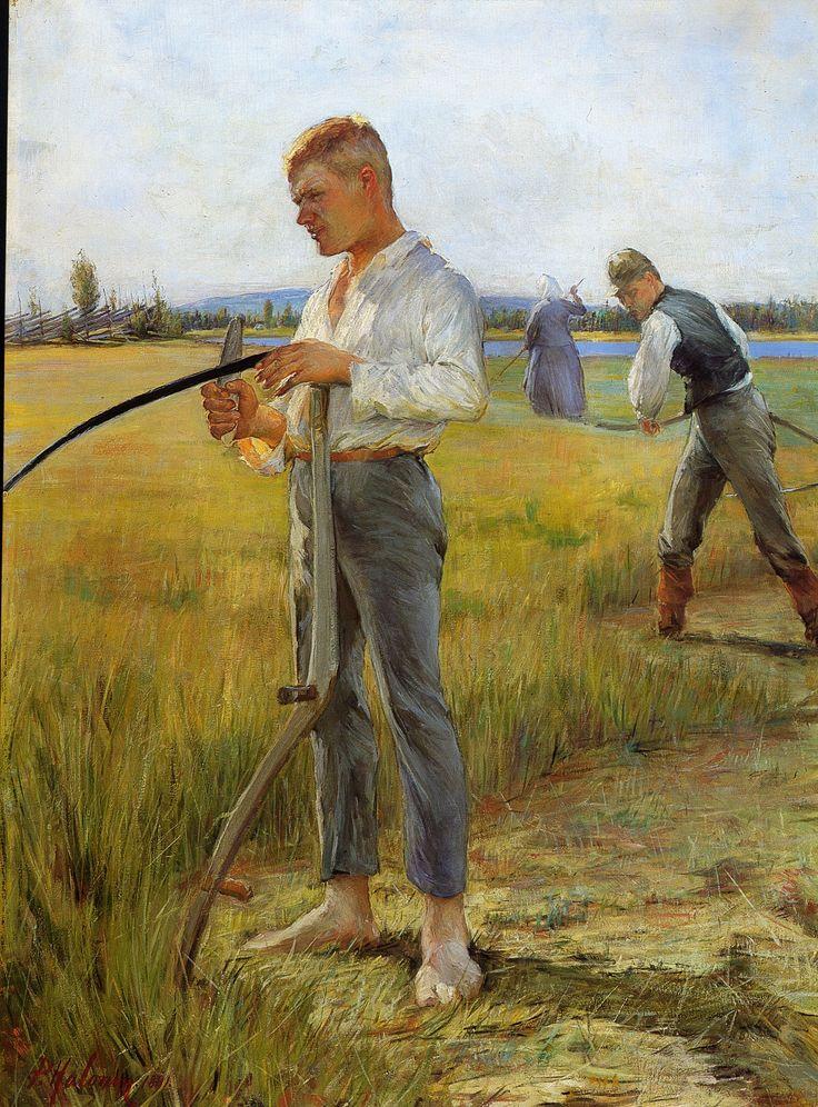 Haymakers by Pekka Halonen (Finish 1865 – 1933)