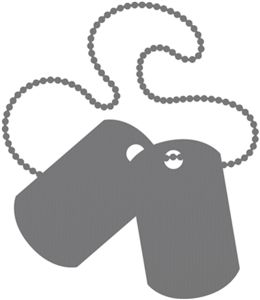 Silhouette Online Store - View Design #16707: army dog tags