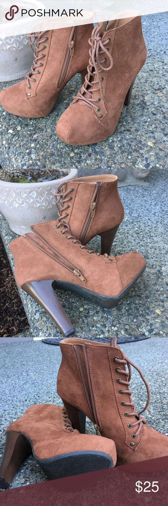 """Charlotte Ruse bootie New condition. Size 7. 5"""" heel, 1 1/2 platform. Stylish and comfort. Charlotte ruse Shoes Ankle Boots & Booties"""