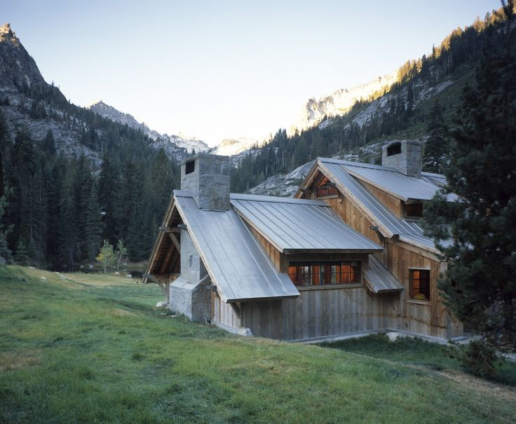 Standing seam metal roof silver metallic hillside for Silver mountain cabins