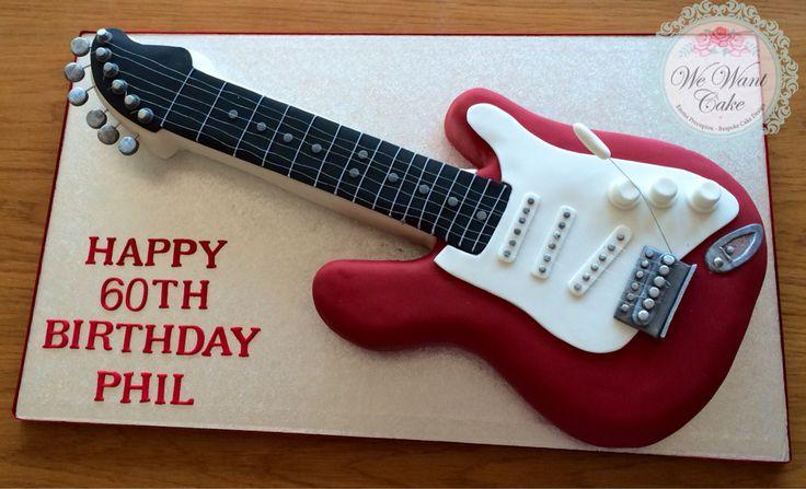 Electric guitar cake www.wewantcake.co.uk