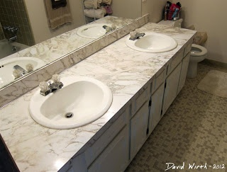 how to remove old sink faucet, cheap bathroom faucet about to be removed and new faucet installed