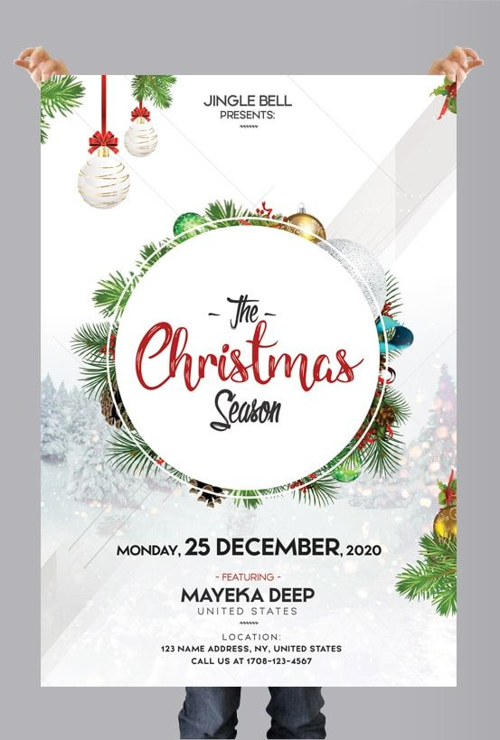 The Christmas Season \u2013 Free PSD Flyer Template #flyer #psd