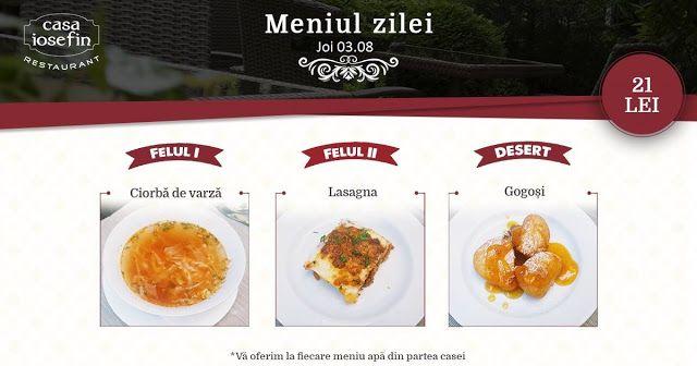 Restaurant Casa Iosefin Timisoara: Meniu Zilei 03.08