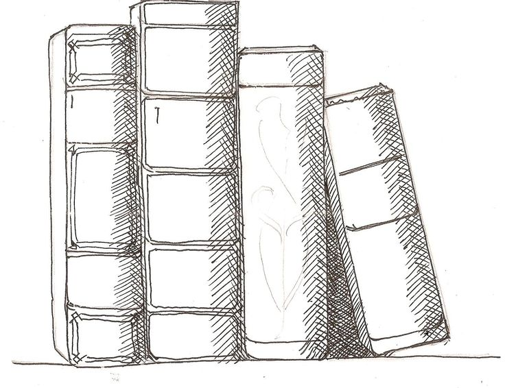 step by step drawing lesson on how to draw book