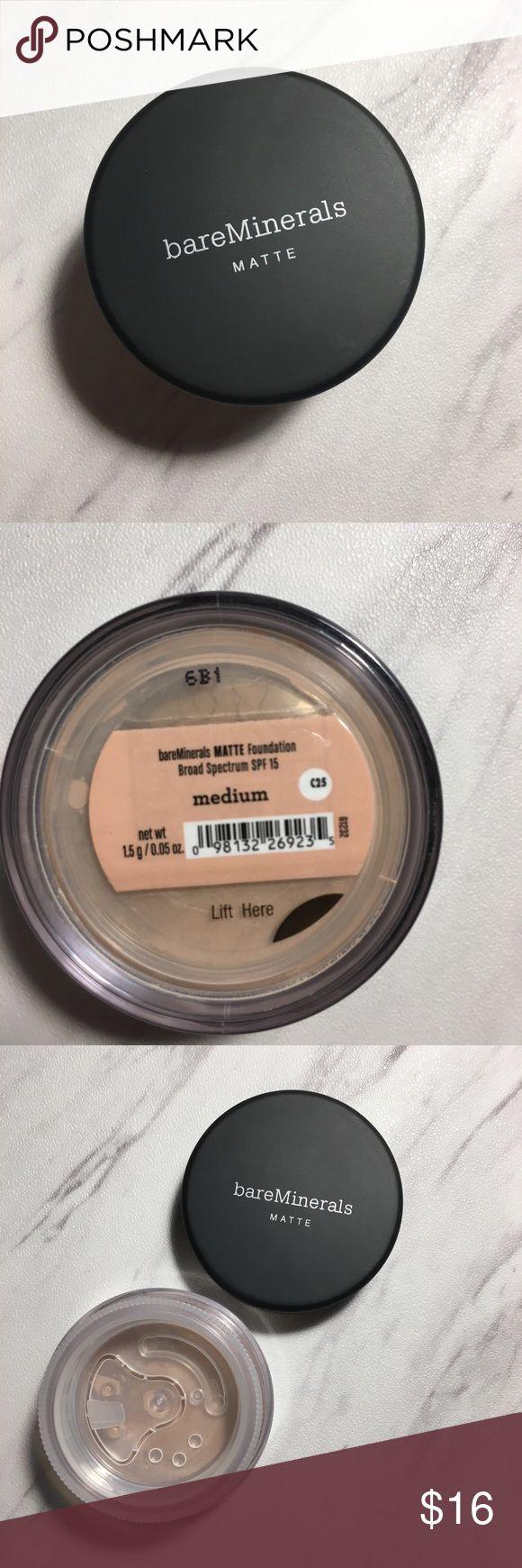 Bare minerals MATTE medium powder New medium matte powder bareMinerals Makeup Face Powder