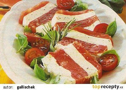 Rajčatové želé s mascarpone recept - TopRecepty.cz
