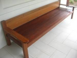Extra long bench seat $650.00 Illusive Wood Designs
