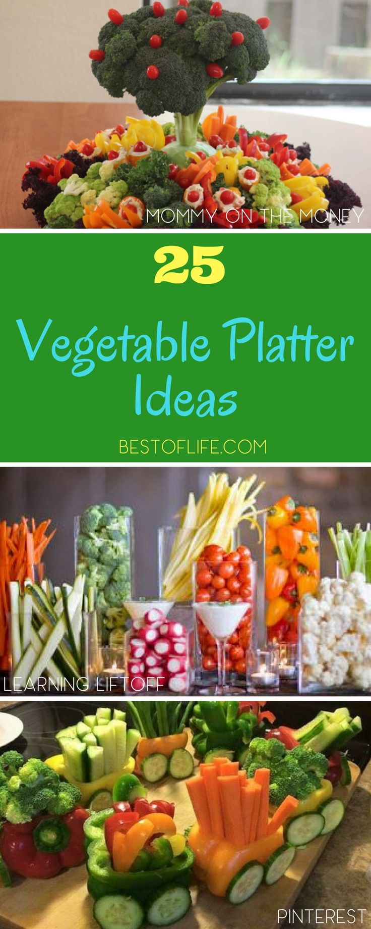 Whether entertaining a few friends, your family, or a crowd, a vegetable platter is a must have party food! These vegetable platter ideas will help you display them perfectly for the occasion. Vegetable Platter Display | Vegetable Platter Guide | Entertaining Tips | Party Food | Party Ideas | Party Food Ideas for a Crowd | Easy Party Food Ideas