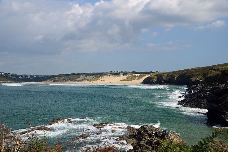 Crantock Beach from above Vugga Cove at West Pentire