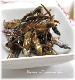 """Dried young anchovies"" - japanese recipe/手作りおせち!レンジでささっと田作り(ごまめ)"