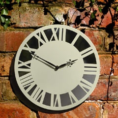 modern outdoor clocks and thermometers | Decorative Garden Clocks and Wall Clocks
