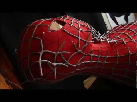 Spiderman Costume replica suit urethane webs gluing finished in photos